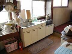 シェアハウスのキッチンの様子。(2008-02-20,共用部,KITCHEN,2F)