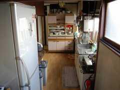 シェアハウスのキッチンの様子2。(2008-02-20,共用部,KITCHEN,2F)