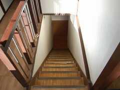 階段の様子。(2階から1階)(2008-02-20,共用部,OTHER,2F)