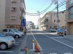 東京メトロ東西線妙典駅からシェアハウスへ向かう道の様子。(2008-02-20,共用部,ENVIRONMENT,1F)