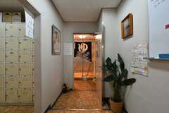 廊下の突き当りが男性用の大浴場です。(2021-09-28,共用部,OTHER,1F)