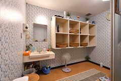 男性用大浴場の脱衣室。(2021-09-28,共用部,BATH,1F)