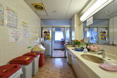 洗面台の様子2。(2021-09-28,共用部,WASHSTAND,3F)