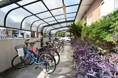 自転車置場の様子。(2021-09-28,共用部,GARAGE,1F)