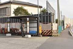 シェアハウス周辺のバス停の様子。(2017-03-13,共用部,ENVIRONMENT,1F)