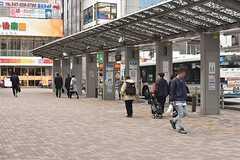 JR中央総武線・市川駅周辺の様子。(2017-03-13,共用部,ENVIRONMENT,1F)