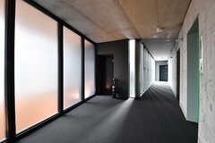 廊下の様子。スタイリッシュなデザインです。(2016-12-22,共用部,OTHER,2F)