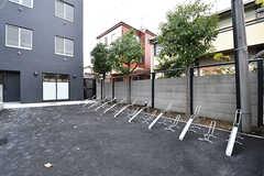 自転車置き場の様子。(2016-12-22,共用部,GARAGE,1F)