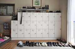 靴箱の様子。(2010-04-14,周辺環境,ENTRANCE,1F)