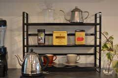 紅茶コーナーがあります。(2020-12-03,共用部,KITCHEN,1F)