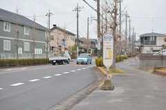 最寄りのバス停の様子。柏の葉キャンパス駅と行き来できます。(2020-01-27,共用部,ENVIRONMENT,1F)