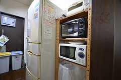 キッチン家電の様子。(2015-10-19,共用部,KITCHEN,1F)