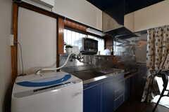 洗濯機の様子。(2019-08-22,共用部,LAUNDRY,1F)