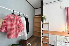 専有部の様子2。(101号室)※モデルルームで小物類は撤去予定とのこと。(2019-08-22,専有部,ROOM,1F)