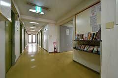 廊下には本が設置されています。(2018-06-18,共用部,OTHER,2F)