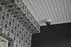 玄関に設置された防犯カメラの様子。(2013-11-28,周辺環境,ENTRANCE,1F)