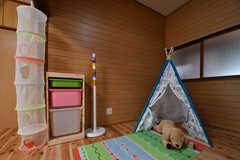 子ども用の収納やテントが用意されています。(103号室)(2018-05-29,専有部,ROOM,1F)