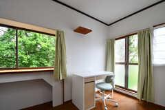 机と椅子が用意されています。(202号室)(2018-05-29,専有部,ROOM,1F)