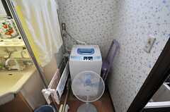 洗濯機の様子。(2013-07-26,共用部,LAUNDRY,1F)