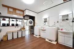 キッチンの対面に洗面台が2台設置されています。(2018-11-13,共用部,WASHSTAND,1F)