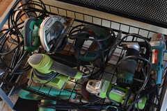 DIYスペースにはサンダーやグラインダーなど様々な工具が置かれています。(2017-12-12,共用部,OTHER,1F)