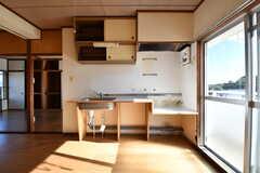 キッチンの様子。(403号室) (2017-12-12,専有部,ROOM,4F)