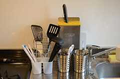 調理器具が用意されています。(2014-09-25,共用部,KITCHEN,2F)