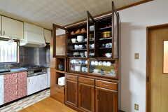 食器棚の様子。(2020-03-03,共用部,KITCHEN,1F)