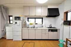 シェアハウスのキッチンの様子。(2009-06-12,共用部,KITCHEN,1F)