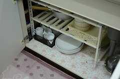 シンク下には食器や調理器具が収納されています。(2012-12-10,共用部,KITCHEN,1F)