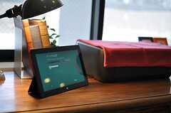 プリンタやwindows8搭載のSURFACEが用意されています。(2013-07-09,共用部,PC,1F)