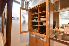 食器棚の様子。(2017-04-19,共用部,KITCHEN,1F)