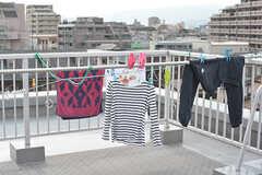 洗濯物や布団も干せます。(2017-02-06,共用部,OTHER,5F)