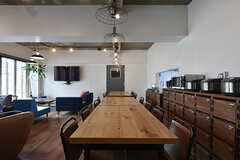ダイニングテーブルの様子。(2016-08-02,共用部,LIVINGROOM,1F)