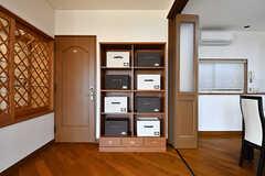 部屋ごとに使用できる収納ボックス。(2017-02-06,共用部,LIVINGROOM,1F)