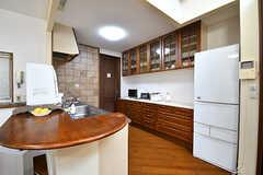 キッチンの様子。(2017-02-06,共用部,KITCHEN,1F)