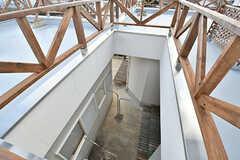 1階のテラスが見えます。(2017-02-06,共用部,OTHER,2F)
