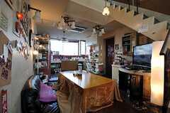 シェアハウスのリビングの様子。(2011-03-26,共用部,LIVINGROOM,3F)