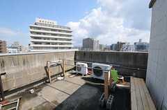 屋上の物干し場の様子。(2011-03-26,共用部,OTHER,5F)