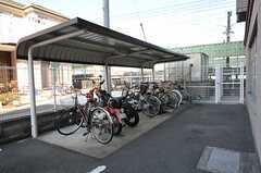 駐輪場の様子。(2011-11-26,共用部,GARAGE,1F)