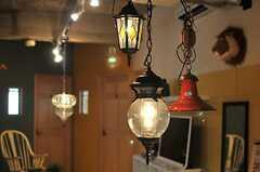 三連のランプたち。(2014-07-12,共用部,LIVINGROOM,4F)