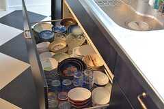 食器は引き出しに収納されています。(2016-06-07,共用部,KITCHEN,1F)