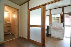 脱衣室の様子。(2013-05-17,共用部,BATH,1F)