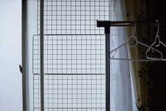 すべての窓に、猫の脱走防止用の柵が取り付けられています。(201号室)(2017-09-14,専有部,ROOM,2F)