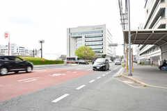 JR・向洋駅近くの大通り。(2017-04-25,共用部,ENVIRONMENT,1F)