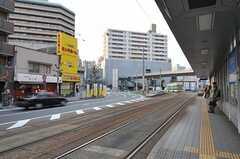 市電・鷹野橋駅のホーム。(2011-11-27,共用部,ENVIRONMENT,1F)