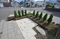庭の様子。これから徐々に整備されていく予定とのこと。(2014-09-16,共用部,OTHER,1F)