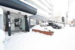 正面玄関の様子。当日、札幌は29年ぶりの大雪でした。(2016-12-12,周辺環境,ENTRANCE,1F)