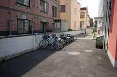 自転車置場の様子。(2008-05-24,共用部,GARAGE,1F)