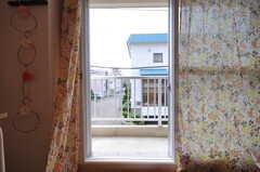 ベランダの様子。(204号室)※モデルルームです。(2013-08-27,専有部,ROOM,2F)